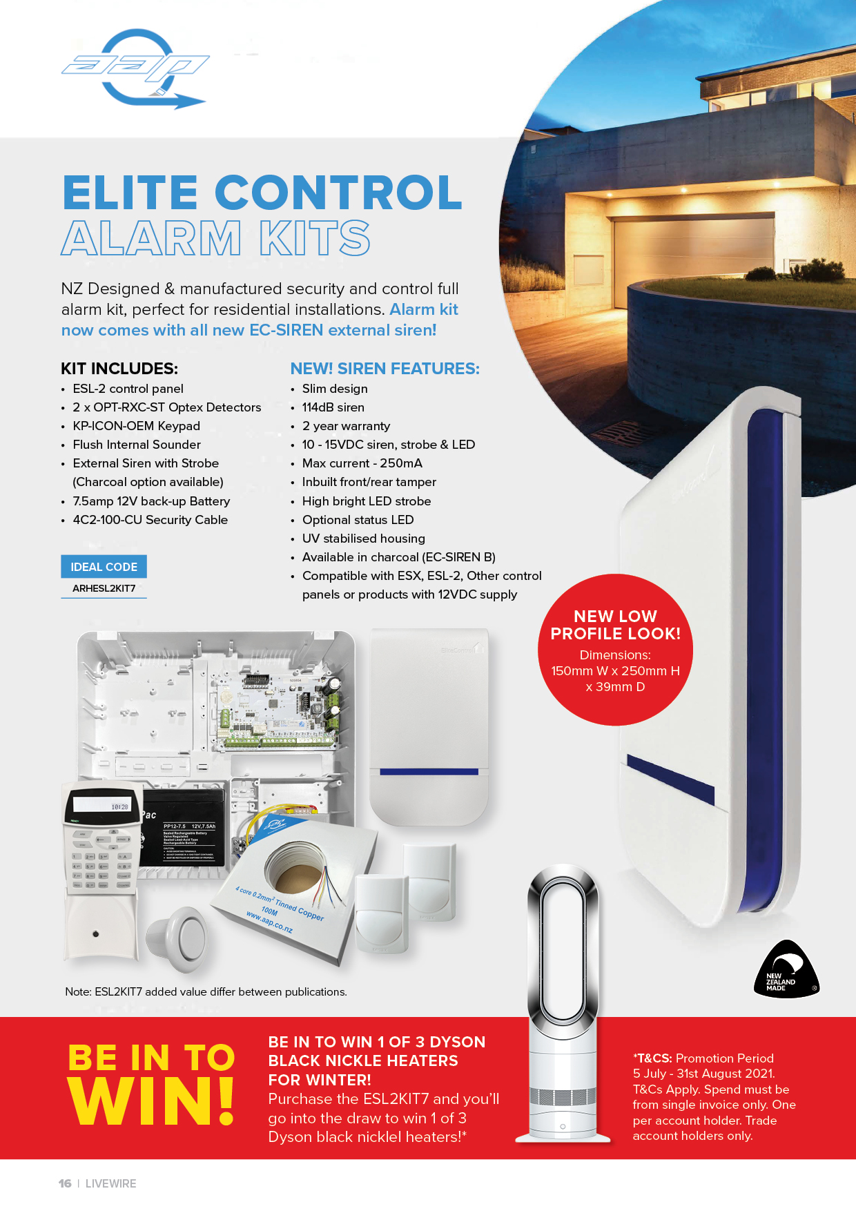 Elite Control Alarm Kit